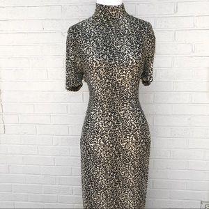 Vintage 90's Cheetah Animal Print Maxi Dress o907